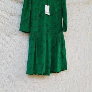 Alice by temperley green silk dress size 4